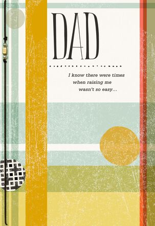 Dad, You Knew What You Were Doing Father's Day Card