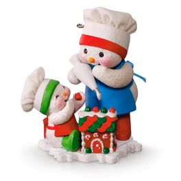 Making Memories Frosting Friends Snowmen and Gingerbread House Ornament, , large