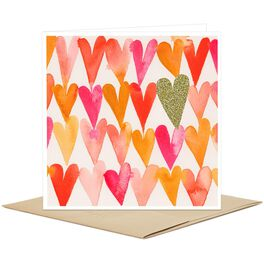 Colorful Hearts Pattern Blank Card, , large