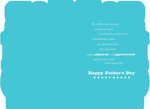 Foil and Bold Letters Father's Day Card,