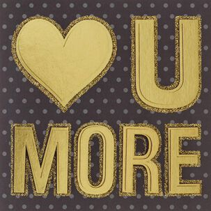 Heart U More Love Card