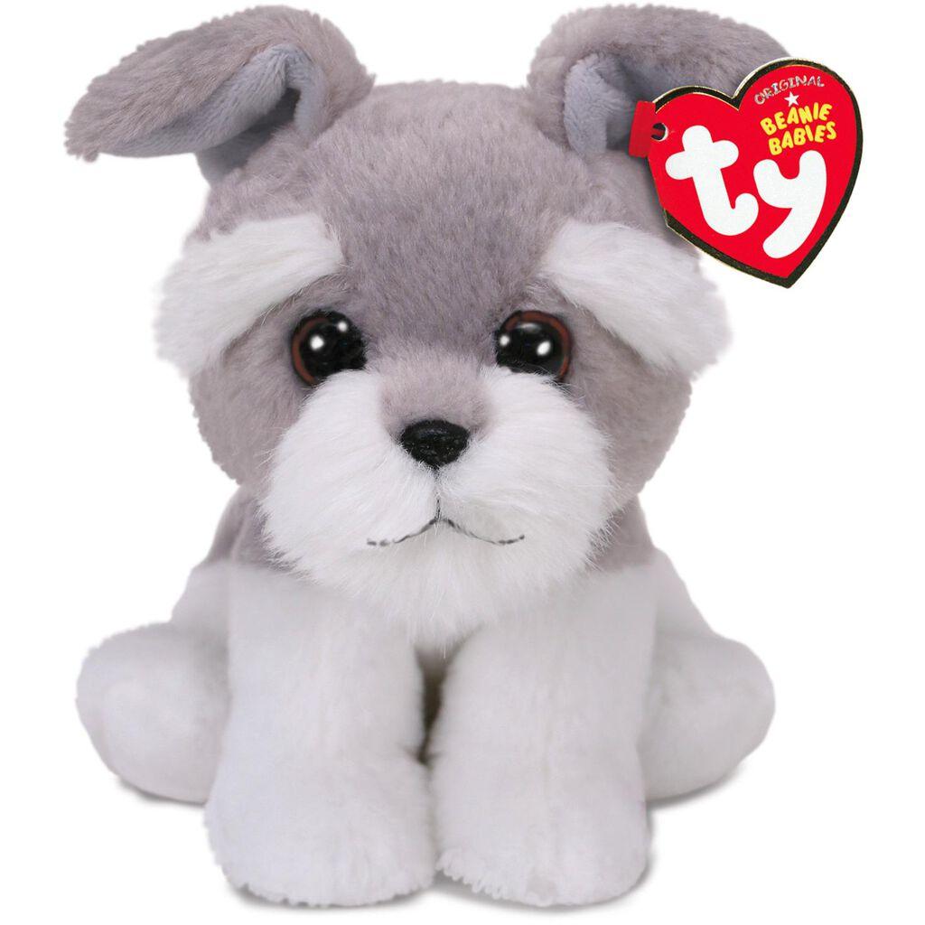 Ty Beanie Babies Harper Grey Dog Stuffed Animal 6 Classic
