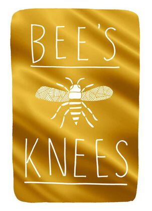 Bee's Knees Blank Card