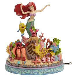 Jim Shore® Under the Sea The Little Mermaid Musical Figurine, 25th Anniversary, , large