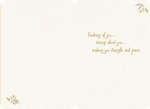 Comfort, Support, Courage Thinking of You Card,
