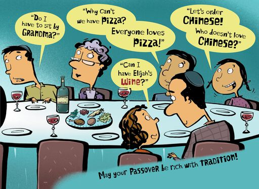Four Questions Funny Passover Card,