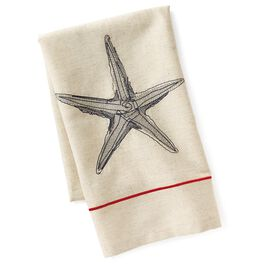 Cedar Cove Embroidered Starfish Tea Towel, , large