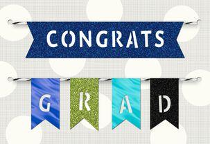 Banner Flags Graduation Congratulations Card