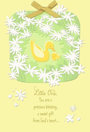 Baby Duck Religious First Easter Card