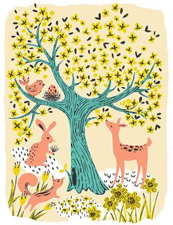 Woodland Animals New Baby Card,