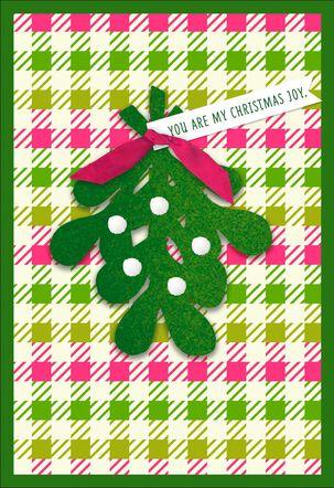 My Christmas Joy Mistletoe Christmas Card for Wife