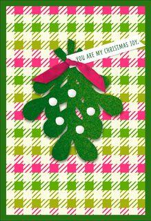 My Christmas Joy Mistletoe Christmas Card for Wife,