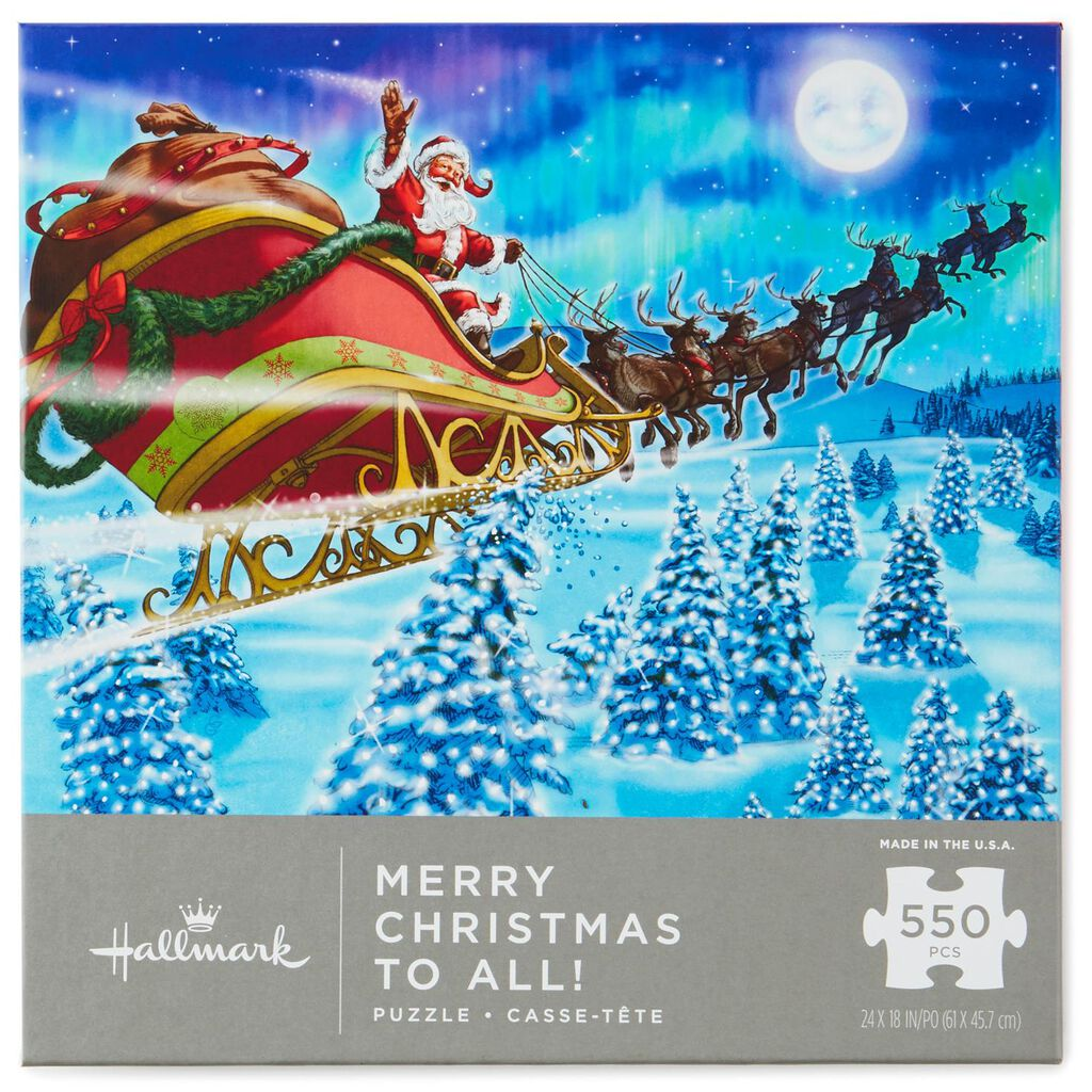 Merry Christmas to All Santa 550-Piece Puzzle - Puzzles & Games ...