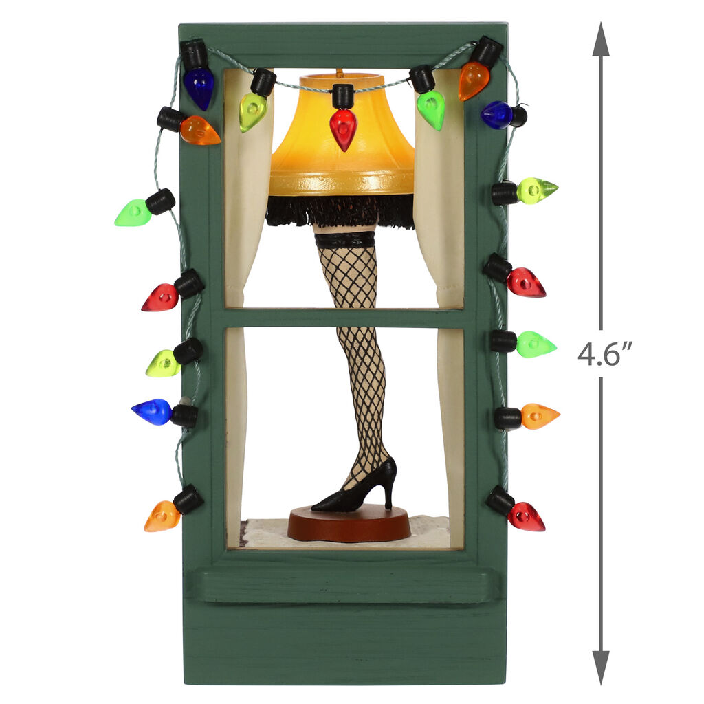 A Christmas Story Leg Lamp.A Christmas Story Mr Parker S Pride And Joy Leg Lamp Ornament With Light