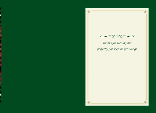 Mani Reasons Christmas Card for Service Professional,