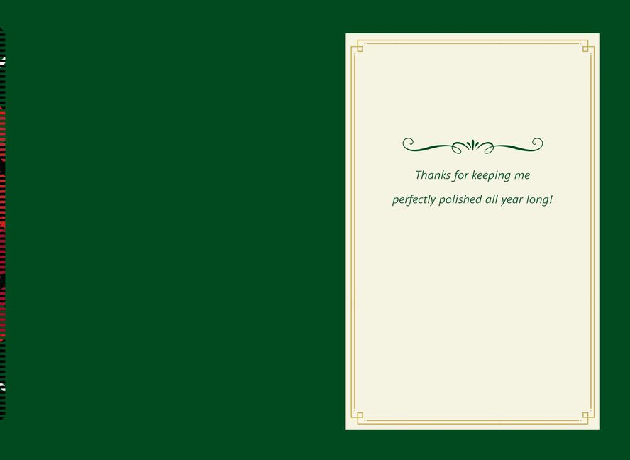 Mani Reasons Christmas Card for Service Professional - Greeting ...