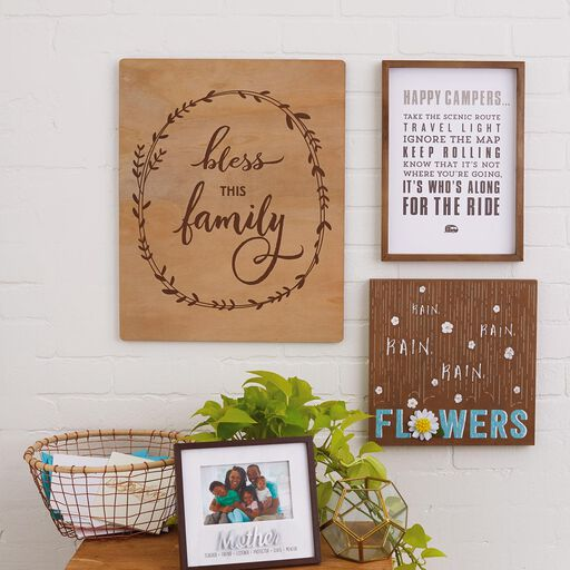 fee4bc9a6429 ... Bless This Family Wood Quote Sign, 15.75x19.75,