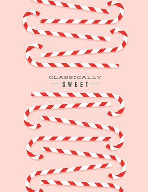 Sweet Candy Canes Christmas Card