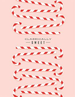 Sweet Candy Canes Christmas Card,