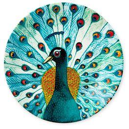 Peacock Dessert Plate, , large