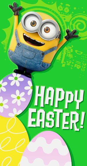 Minions Easter Money Holder Card