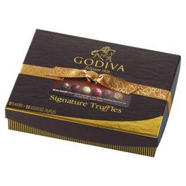 Godiva Chocolatier Signature Chocolate Truffles in Gift Box, 12 Pieces, , large