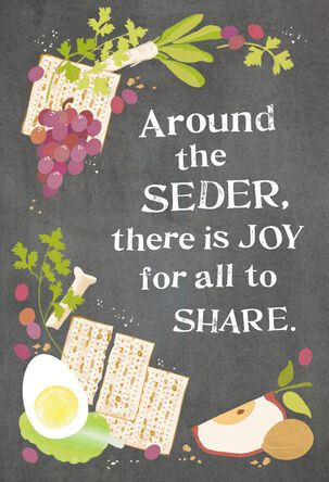 Seder Food Passover Cards, Pack of 6