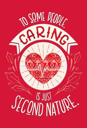Caring Heart Nurse Christmas Card