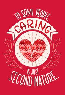 Caring Heart Nurse Christmas Card,