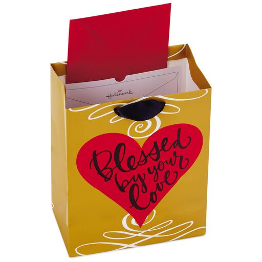 Blessed By Your Love Heart Medium Gift Bag 95