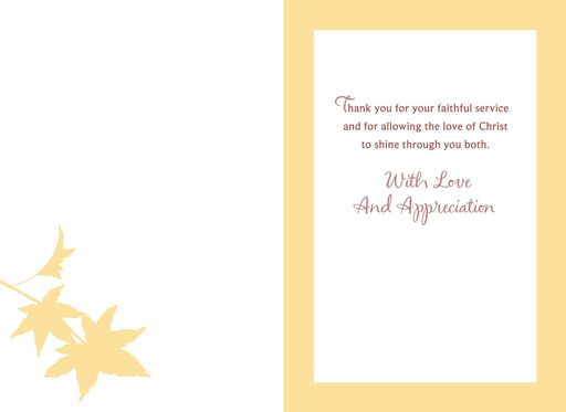 Thank you letter to my pastors wife clearview windows fall apples minister and wife appreciation card altavistaventures Image collections