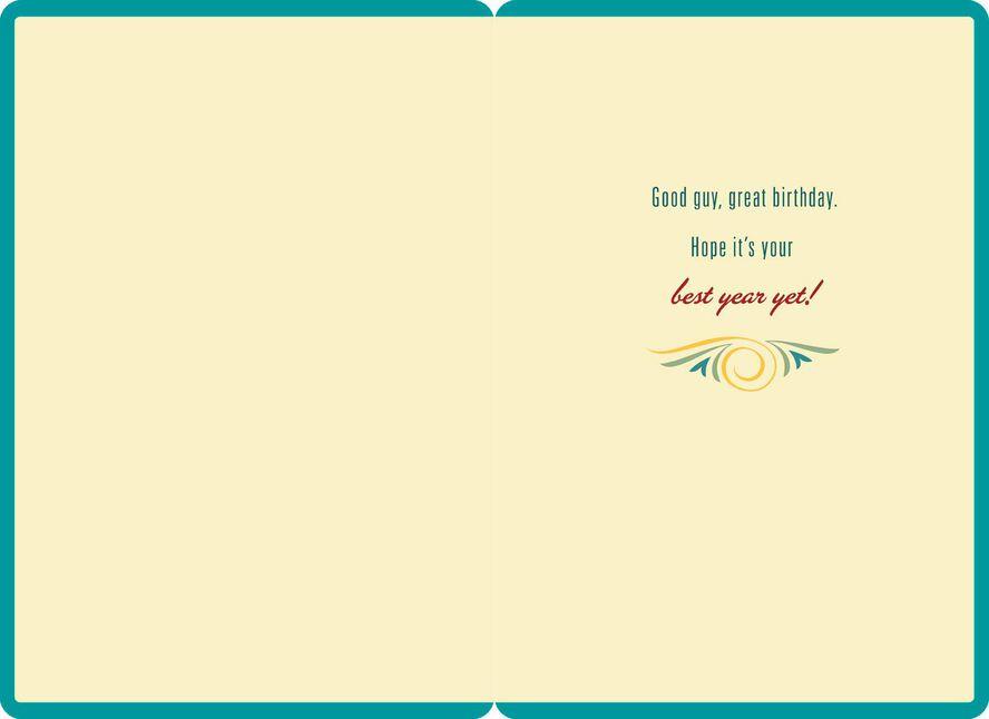 Good Guy Jumbo Birthday Card For Him 1625 Greeting Cards Hallmark