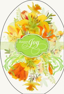 Joyful Thanks and Lilies Easter Card,