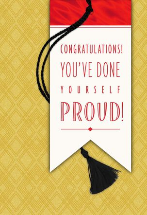 Many Good Wishes Graduation Card With Tassel