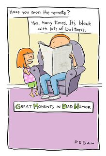 Remote Control Wise Guy Humor Father's Day Card,