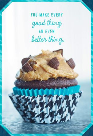 Peanut Butter Cupcake Birthday Card for Child
