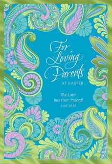 The Gift of Family Religious Easter Card for Parents,
