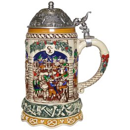 Elf Festivities Ceramic Christmas Beer Stein, , large
