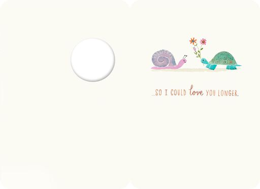 Snail and Turtle Romantic Love Card,