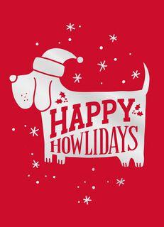Howliday Dog Christmas Card,