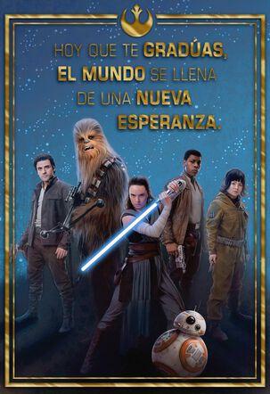 Star Wars™ Resistance Group Spanish-Language Graduation Card