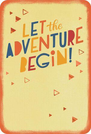 Let the Adventure Begin Congratulations Card