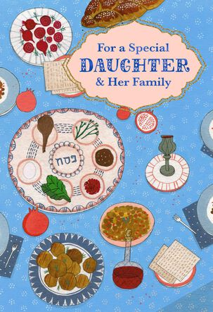 For a Special Daughter and Her Family Passover Card