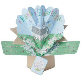 Pop-Up Easter Blessings Church Card, , large