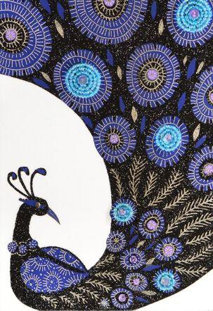 Pretty Peacock Birthday Card