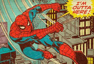 Spider-Man Outta Here Graduation Card,