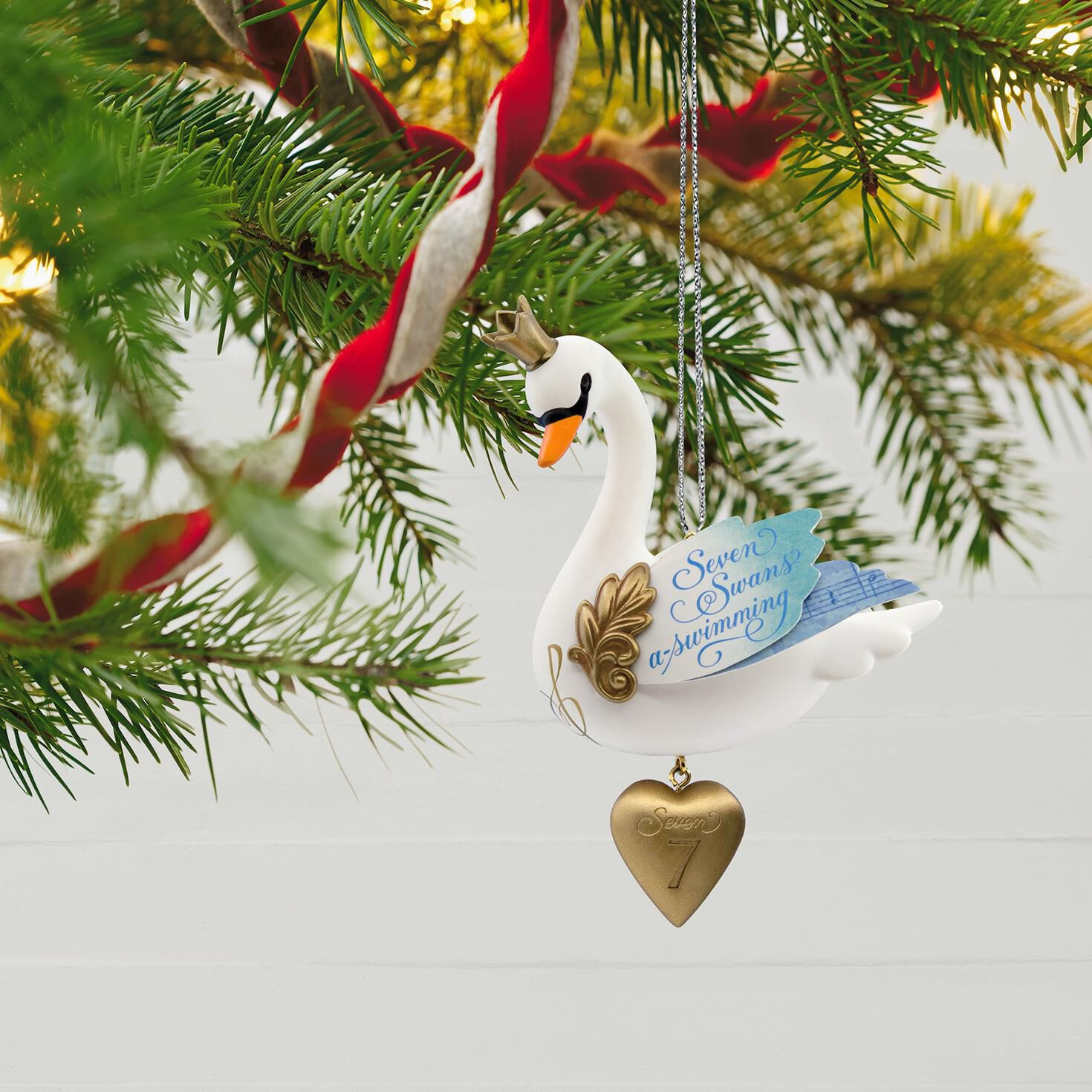 Seven Swans-a-Swimming Twelve Days of Christmas Ornament ...