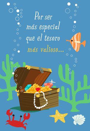 Treasure Chest Spanish-Language Musical Birthday Card