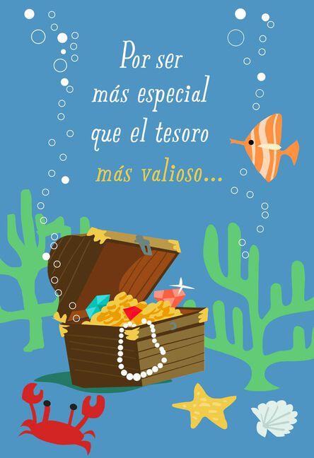 Treasure Chest Spanish Language Musical Birthday Card Greeting