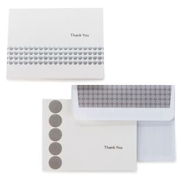Silver Dots Thank You Notes, Pack of 50, , large
